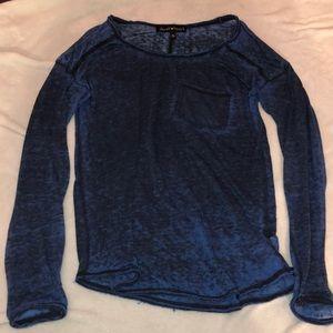 Small blue acid washed long sleeve shirt